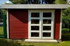 Das Gartenhaus beinhaltet neben Gerätschaften für den Garten auch den Elterngrill für tolle Nachmittage im Garten.